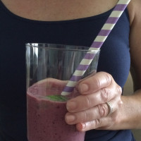 AtlantaFresh Basil Blueberry Smoothie