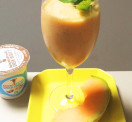 Cantalope Vanilla Yogurt Mint Smoothie